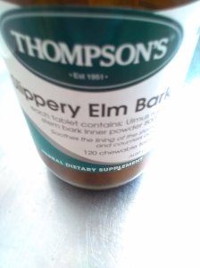 Slippery elm bark.